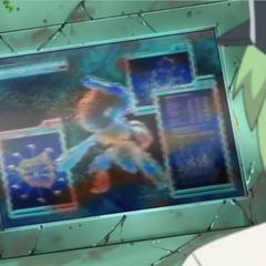 Genesect en la pantalla.