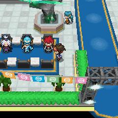 Después de vencer en el PWT, los personajes a los que has derrotado aparecerán en el vestíbulo.