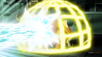 EP1054 Pikachu usando Electrotela