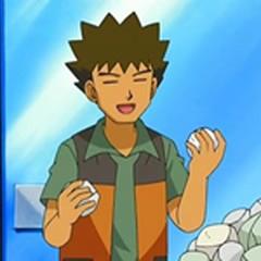 Brock eligiendo la mejor piedra para Happiny.