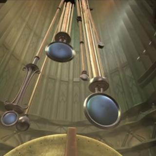 Interior de la Torre del Tiempo.