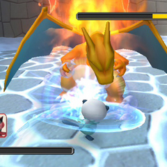 Oshawott vs Charizard.