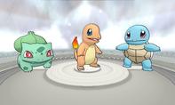 Pokémon iniciales de Kanto XY