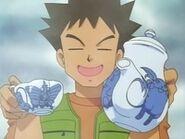 EP009 Brock con un juego de té