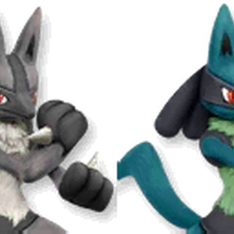Paleta de colores de Lucario en Super Smash Bros. 4.