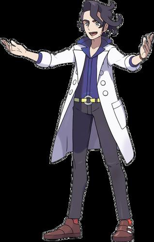<i>Ilustración del profesor Ciprés en Pokémon X y Pokémon Y</i>