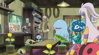 EP915 Goodra de Ash, Keanan y Pokémon del pantano (Cameo)
