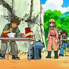 Brock haciendo comida fabricada.