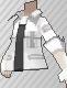 Camiseta con cremallera blanca