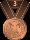 Medalla tercer puesto PD
