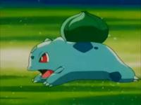 EP180 Bulbasaur usando derribo