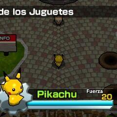 Pikachu en la aldea de los juguetes.