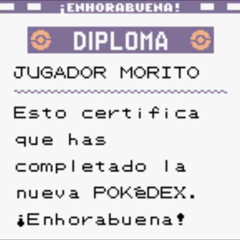 Diploma Pokédex completa en <a href=