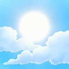 Con el resplandeciente sol a su favor...
