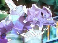 Mega Steelix regresando a su forma normal Steelix