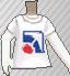 Camiseta con logotipo blanca
