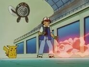 EP007 Ash, Pikachu y Goldeen