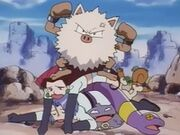 EP025 Primeape y Team Rocket