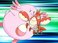 EP463 Chansey usando Doble filo