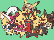 PAA Dibujo Pikachu coqueta