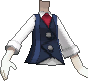 Chaleco con corbata azul