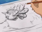 EH15 dibujo de Seaking que hizo Tracey