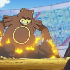 ...al sacar al siguiente Pokémon, este al hacer contacto con el campo, las púas reaccionan explotando.