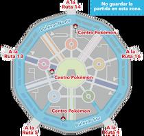 Mapa de Ciudad Luminalia donde puede producirse el error