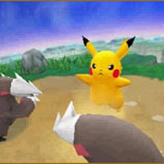 Pikachu junto con dos <a href=