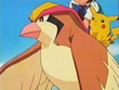 EP083 Ash y Pikachu montados en Pidgeot