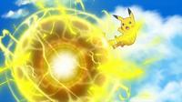 EP964 Pikachu usando bola voltio