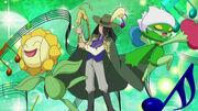 EP645 Nando con Roserade y Sunflora