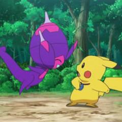 Poipole conoce a Pikachu.