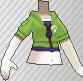 Cazadora con capucha verde claro