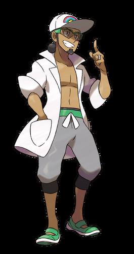 "Kukui en <a href=""/es/wiki/Pok%C3%A9mon_Sol_y_Pok%C3%A9mon_Luna"" title=""Pokémon Sol y Pokémon Luna"">Pokémon Sol y Pokémon Luna</a>"