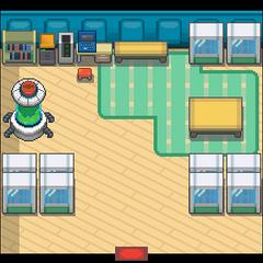 Laboratorio (interior) en Oro HeartGold y Plata SoulSilver.