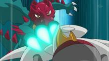 EP733 Druddigon usando garra dragón
