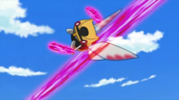 EP656 Ninjask de Polo usando cortefuria