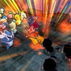 Un combate de choque entre Pokémon.