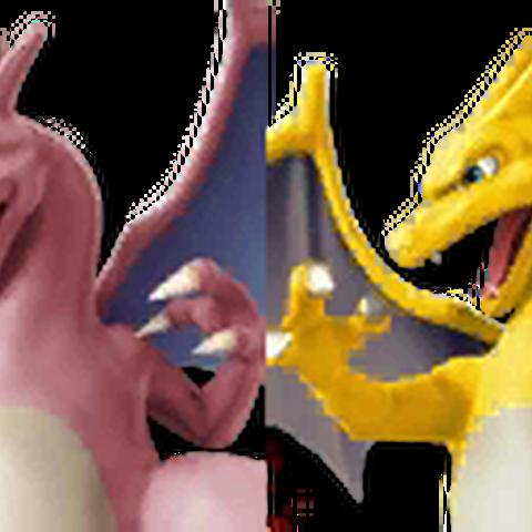 Paleta de colores de Charizard en Super Smash Bros. 4.