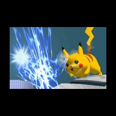 Pikachu usando Thunder Jolt en Super Smash Bros. Melee.