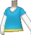 Camiseta cuello de pico azul claro