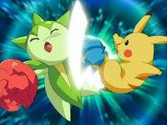 EP473 Roselia vs. Pikachu