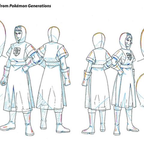 Concept Art de Pokémon Generaciones de soldados del equipo Plasma.