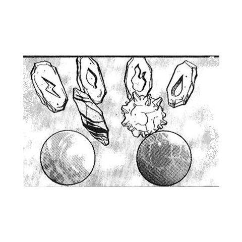 Piedras evolutivas en el manga.