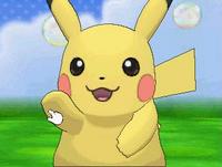 Pikachu chocando los cinco en el Poké Recreo XY