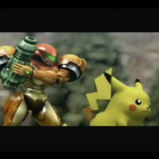 Pikachu junto a Samus en el Emisario Subespacial.