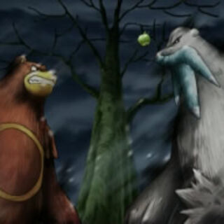 Ursaring y Beartic a punto de pelear.