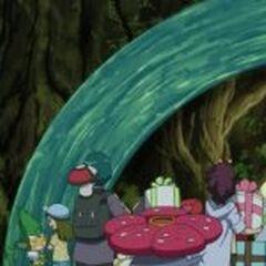 EP863 Entrenadores y sus Pokémon frente al árbol.jpg