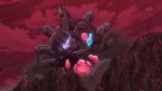 EP939 Mega-Garchomp y Mega-Gardevoir usando pulso dragón y bola sombra respectivamente